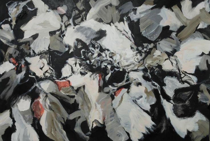 Gabrielle Jones, Flock, 101x152cm Acrylic on Canvas www.gabriellejones.com.au
