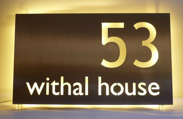 17 Best Images About Illuminated Led House Name Plates On Pinterest Warm Green Led And Bespoke