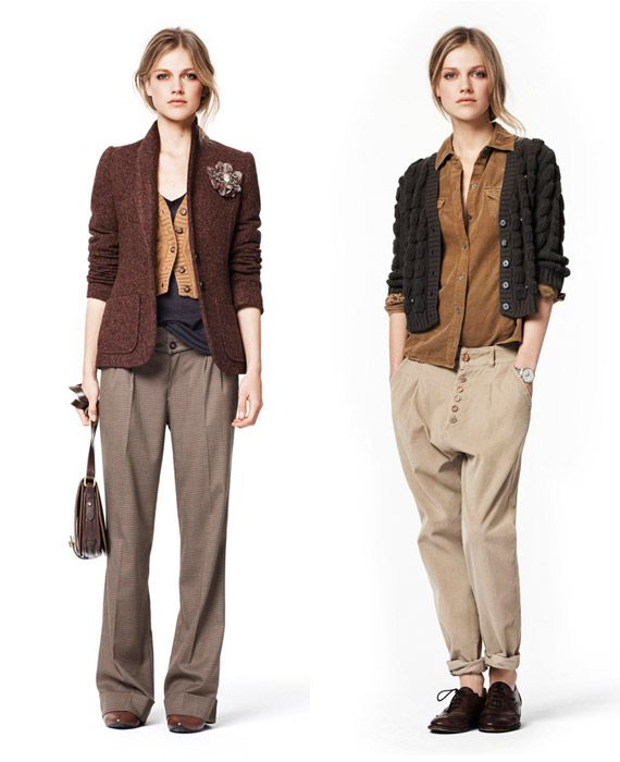 Lovely fall colors. tomboy/femme style.