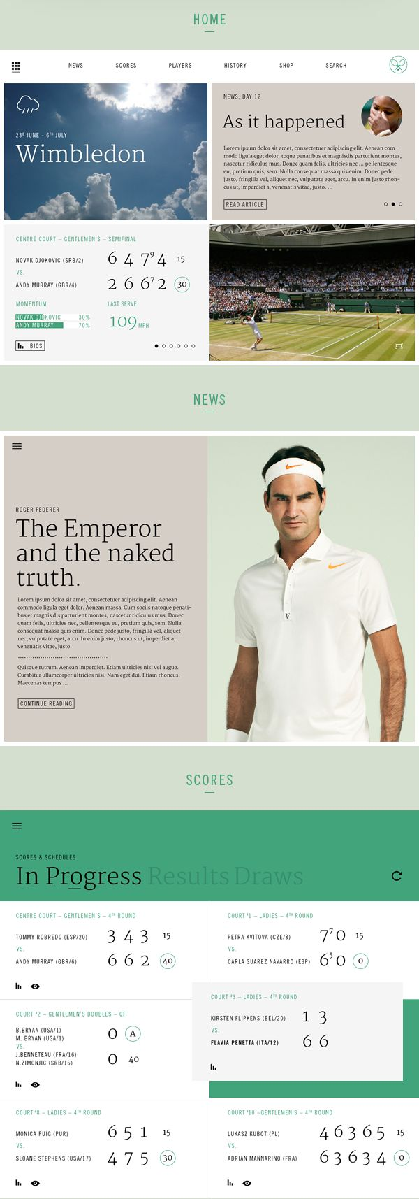 T shirt design app for ipad - Ipad App Concept And Design For The Tennis Championships In Wimbledon