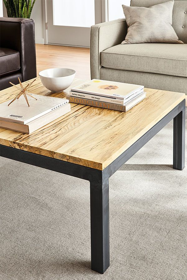 Amazing Our Classic Parsons Cocktail Table Features A Bold Natural Steel Base With  Subtle Weld Marks That