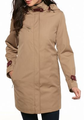 Gallery  Covered Zip Long Raincoat