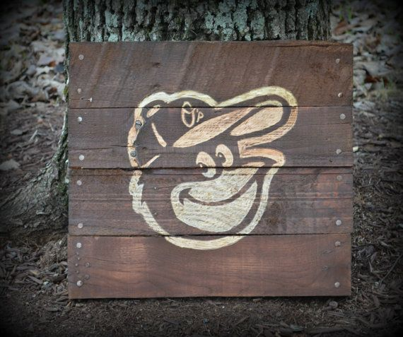 Baltimore Orioles Pallet Wood Art Sign by HarveyPalletDesigns