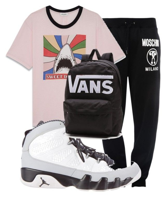 """""""Unbenannt #39"""" by charlypony on Polyvore featuring Moschino, Yves Saint Laurent, NIKE, Vans, men's fashion und menswear"""