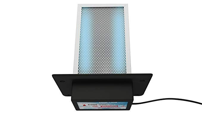 D200 Dual Lamp Air Purifier Whole House Tio2 Pco Photocatalytic Filter Uv Light In Duct For Hvac Ac Air C Ducted Air Conditioning Air Purifier Uv Air Purifier