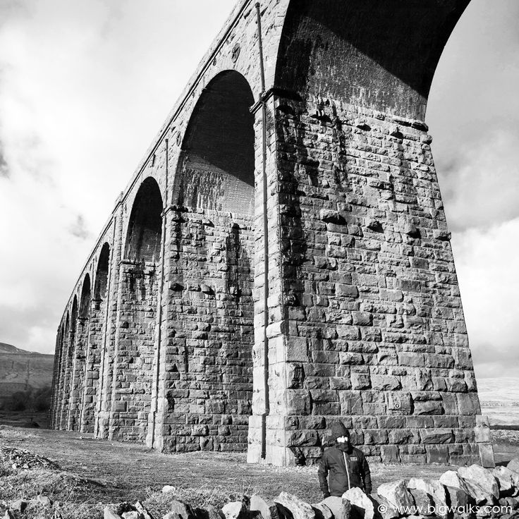 The famous Ribblehead Viaduct is a fantastic sight when seen from any angle. It carries the Settle to Carlisle railway.