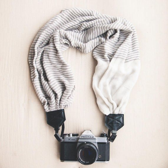 The VC Scarf Camera Strap The Felicia from TheVintageClothespin on Etsy. Saved to Christmas 2015.