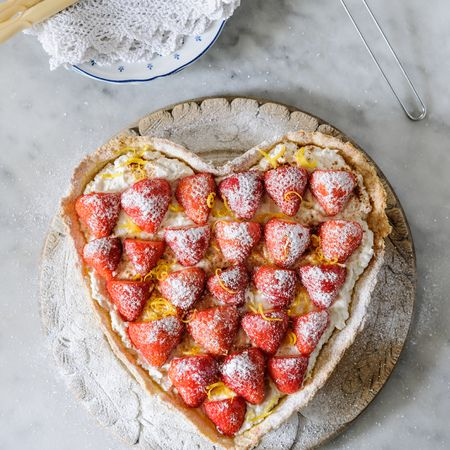 Summer pudding: Strawberry, Ricotta, Lemon and Cream Tart | Recipe