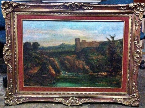 Giacinto Gigante Pittore (1853). Elevada cotação internacional. Óleo sobre Tela. Pintura: 47x70. Mo