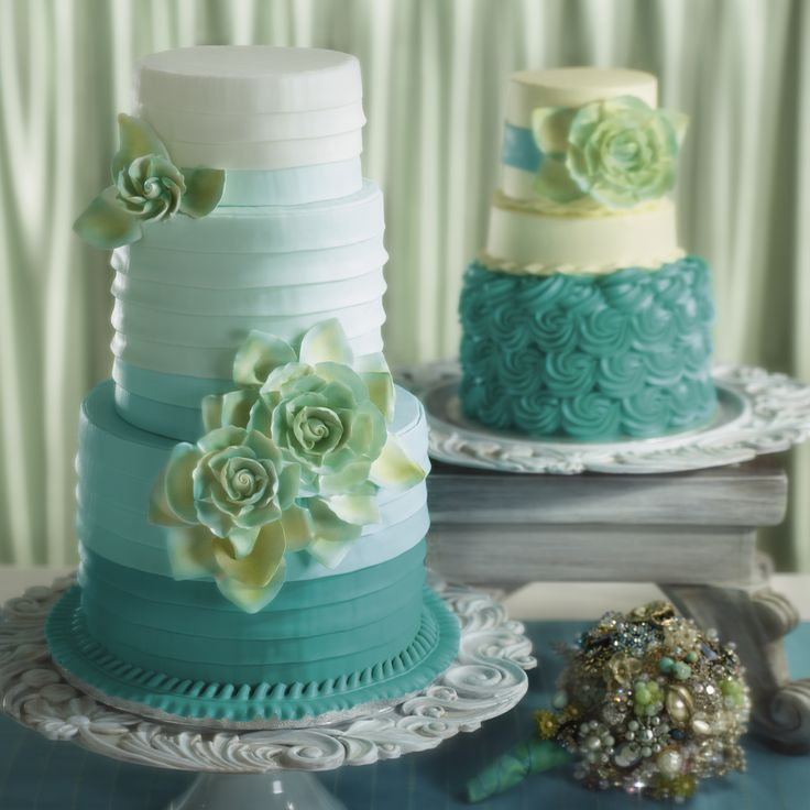 Wedding Cake Design Ideas find this pin and more on maybe one day falling flowers wedding cake Find This Pin And More On I Do Wedding Cakes Turquoise Gradation Sea Inspiration With Flowers Decoration
