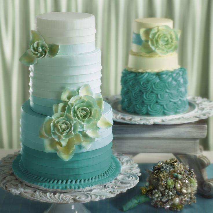 Wedding Cake Design Ideas nice design wedding cake wedding cake design ideas wedding cakes decorations ideas cake wedding cake Find This Pin And More On I Do Wedding Cakes Turquoise Gradation Sea Inspiration With Flowers Decoration