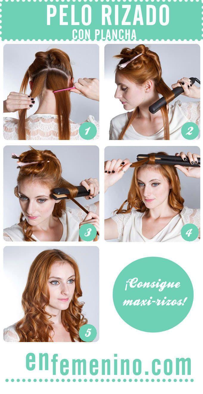Secciona tu cabello como siempre y en vez de alisar hacia abajo, coloca la plancha en el mechón y gírala hacia afuera. Desliza y ¡voilá!