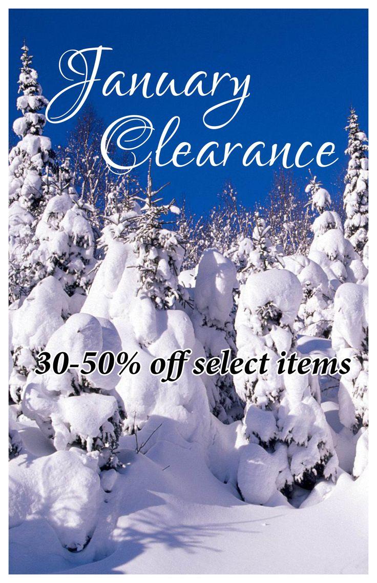 AVM Museum Shop:  January 2018 Clearance sale.