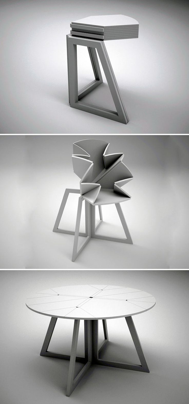 30 Amazing Extending and Folding Tables! (video)   http://www.designrulz.com/design/2015/01/30-amazing-extending-folding-tables-video/