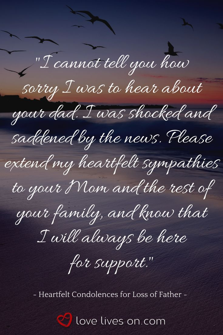 professional farewell letters%0A A heartfelt condolence message for loss of father  Click to browse more  short condolences