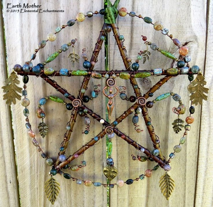 pagan crafts | Earth Mother, handcrafted pentacle from KM Fields' Elemental ... | Sp ...   Gorgeous idea!