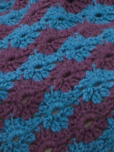 Posies Lap Robe | Yarn | Free Knitting Patterns | Crochet Patterns