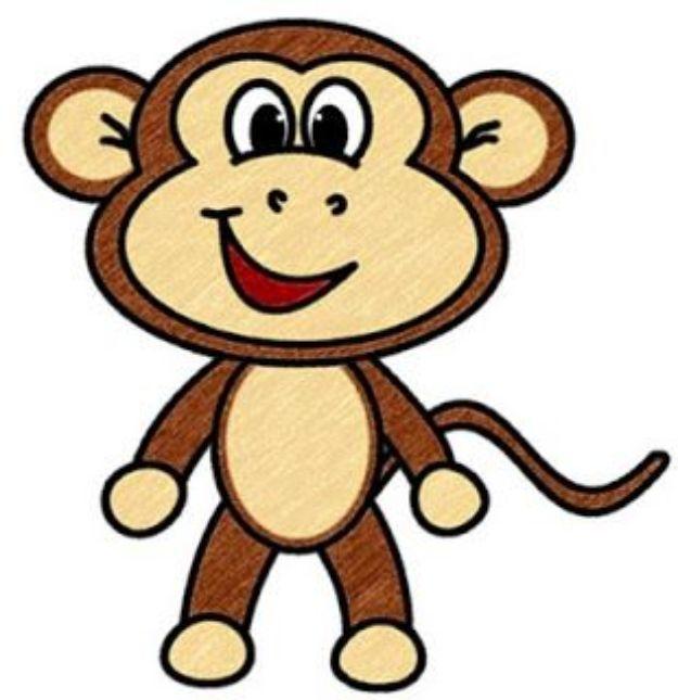 100 Tutorials To Teach You How To Draw Cartoon Monkey Cartoon Drawings Monkey Art