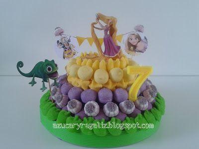AzucaryRegaliz, el blog de las chuches: Tarta de Rapunzel para Elena