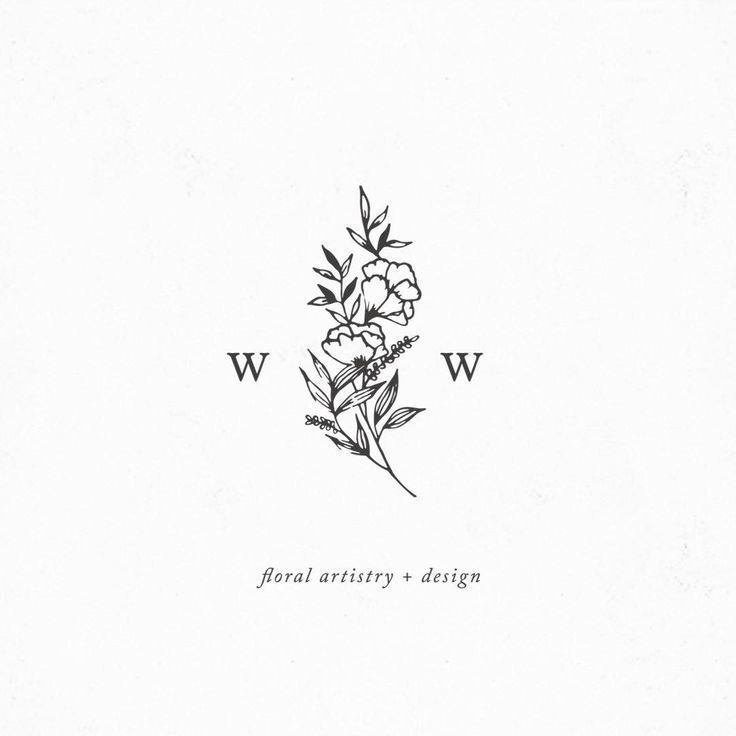 pretty logo design | minimalist, minimalism, minimal, simplistic, simple, modern, contemporary, classic, classy, chic, girly, fun, clean aesthetic, bright, white, pursue pretty, style, neutral color palette, inspiration, inspirational, diy ideas, fresh, black and white, combination logo, floral design, flowers,