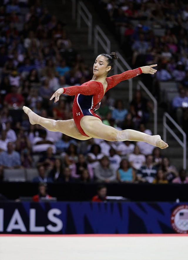 "Here's What Happens When Aly Raisman Attempts an ""Impossible"" Routine  - ELLE.com"