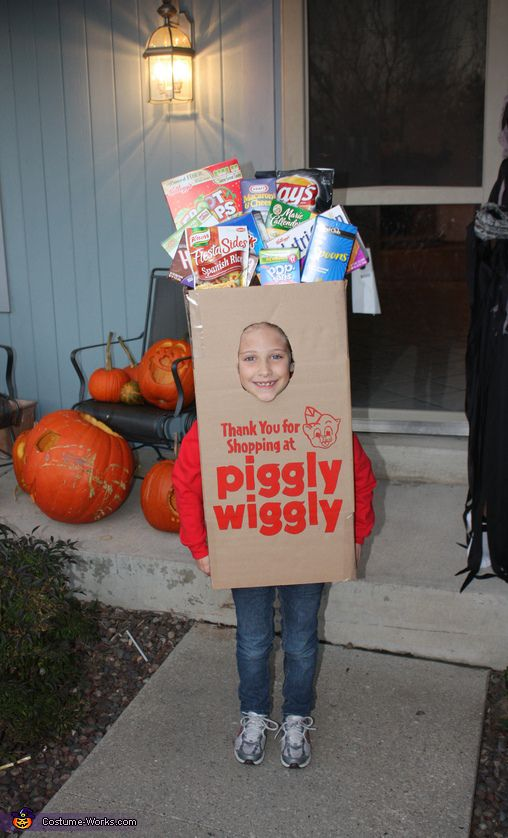 Piggly Wiggly Grocery Bag Costume
