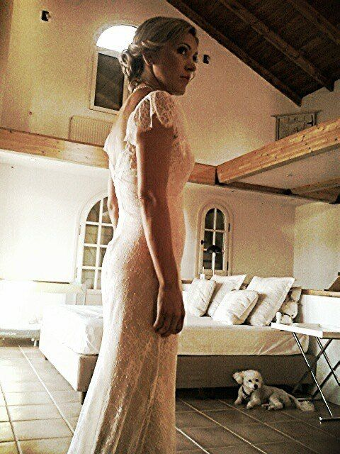 Real bride Cristianna by Marianna Kastrinos Couture