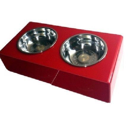 Acrylic Pet Feeder | Red