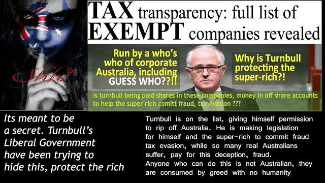 tax evasion super rich list Malcolm Turnbull http://theaimn.com/not-australia-know-love/tax-evasion-super-rich-list-malcolm-turnbull/