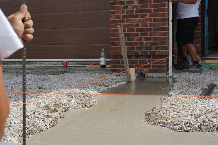 Fundament für die Gartenmauer Streifenfundament selber