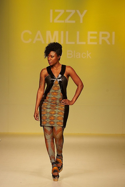 Dress by Izzy Camilleri, modelled by Jully Black. Photo © Brian Summers. by Stephen Lewis Foundation, via Flickr
