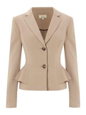 Flutter layer over hip, nice line LINEA - Peplum Jacket, House of Fraser Plus size collection