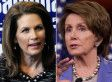 """Rep. Michele Bachmann (R-Minn.) shot back at House Minority Leader Nancy Pelosi on Thursday, claiming that Pelosi's move to connect a GOP student loan plan to the so-called Republican war on women was """"pathetic."""" """"She wants to continue this fiction that every Democrat messenger is trying to put forward, which is there's a war on women,"""" Bachmann told Fox Business Network's Neil Cavuto."""