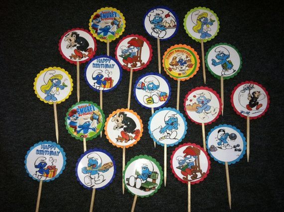 all 80s cartoon characters...used on the cupcakes and on the paper garland too