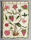 An extremely fine crewel worked bag, dated 1704, the flannel ground brightly worked with a fruiting and flowering plant in a basket to one side, to the other a with HA monogram, two exotic birds and a vase sprouting meandering blooms and foliage, 63 by 46cm, 24 1/2 by 18in: Flowering Plants, Flannel Ground, Ground Brightly, Reticules Bags Pockets Wallets, Beautiful Bags, Brightly Worked, Crewel Worked, Fine Crewel