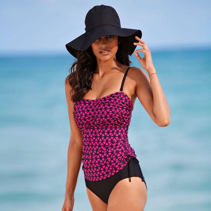 Haut de tankini amincissant avec bretelles amovibles #sea #sun #hollidays #blancheporte