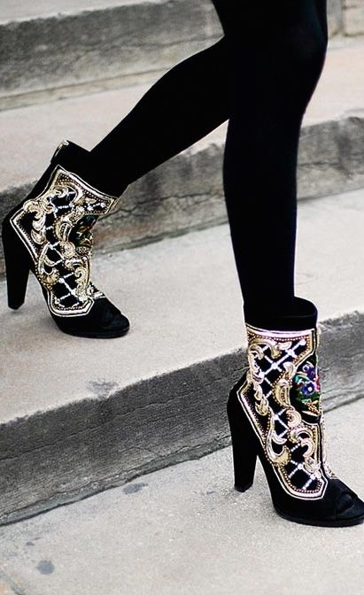 Balmain embroidered ankle boots