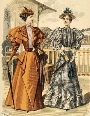 The Barrington House: 1894 fashion plate