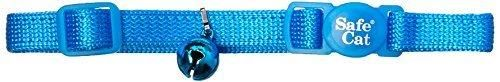 Coastal Pet Products CCP7001BLL Nylon Safe Cat Adjustable Breakaway Collar with Bells, Blue Lagoon