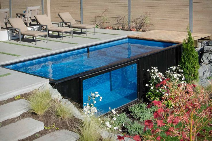 One Canadian couple is making a splash transforming shipping containers into backyard swimming pools.