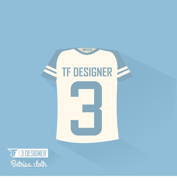 t-shirt flat design by TF 3 Designer  long shadow