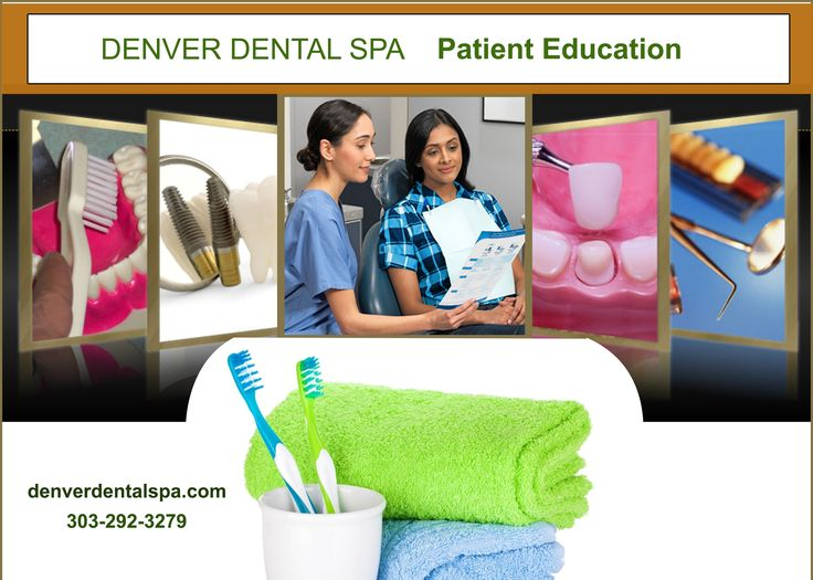 Denver dental spa is giving patient education for the awareness of dental problems which will occur for the various reasons. And also for the regular precautions for the children and adults