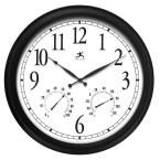 Infinity Instruments Definitive Radio Controlled 24 in. W x 24 in. L Round Outdoor Wall Clock 13376BK-2534 at The Home Depot - Mobile