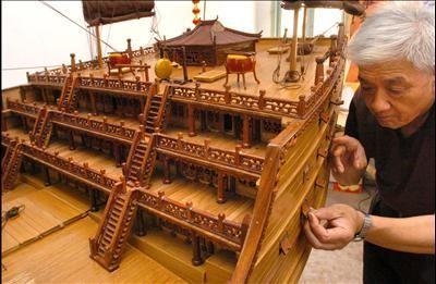 Zheng He's treasure ship, scale 1:40.