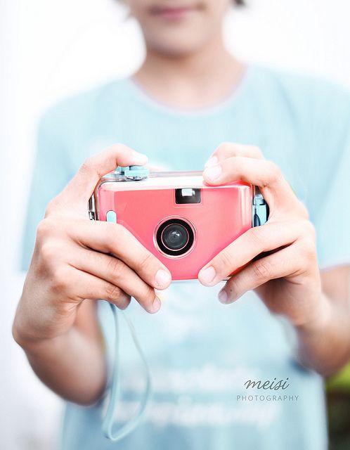 pink camera  by ·meisi·, via Flickr