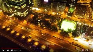 City NightLife Drone Video - City Light with Drone