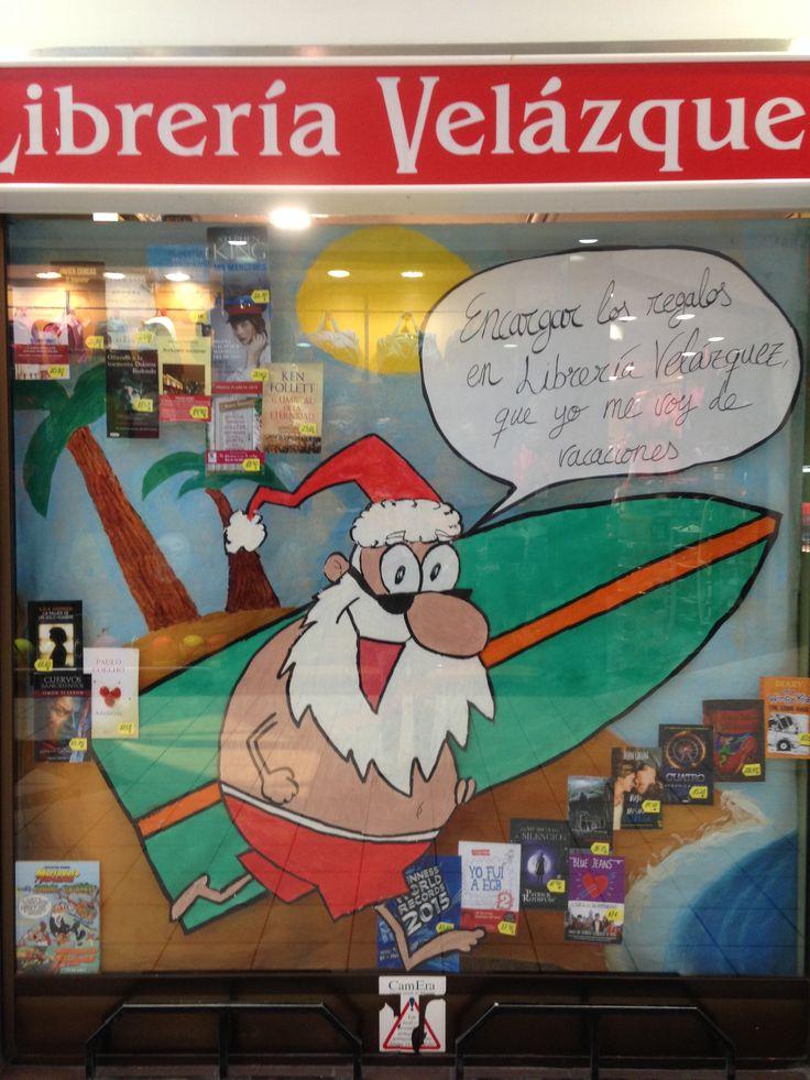 Papa Noel visitó librería Velazquez. Navidad 2014