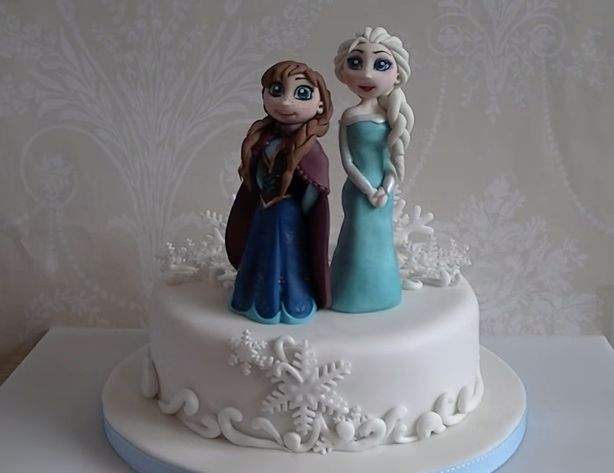 In this Disneys Frozen cake tutorial I show you how to make a fondant / modelling paste Elsa cake topper to use on your frozen themes cakes. Modelling past