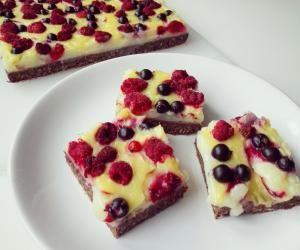 Pudinkový koláč - Zdravé mlsání - Fitrecepty.info - Pojďte s námi zdravě jíst a být fit!