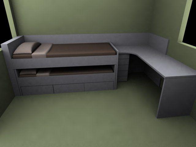 habitacion juvenil a medida cama nido barcelona